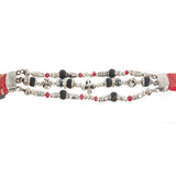 Silver Leather Bracelet Beads and Tubes BLADES CROSS and Malteser Balls 12