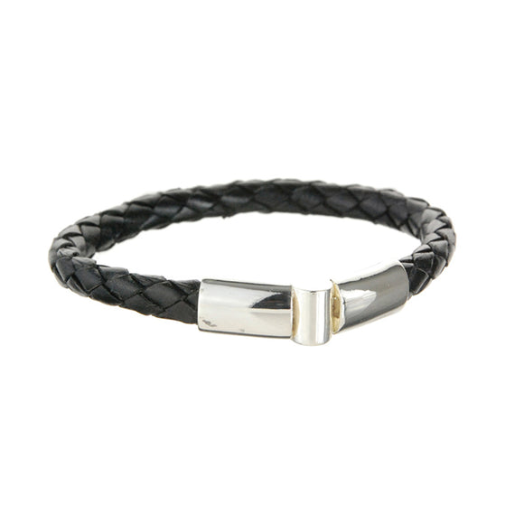 Leather Bracelet Plain Jointlock 6