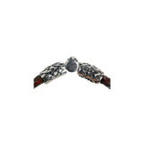 "Silver Leather Bracelet ""Lily""  ""Dragon Scales"" Jointlock 10"