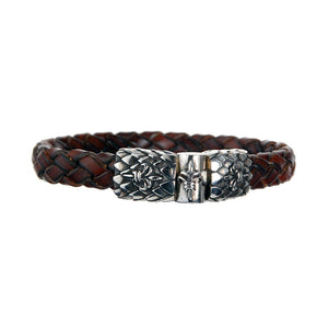 "Leather Bracelet ""Lily""  ""Dragon Scales"" Jointlock 10"