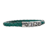 Silver Leather Bracelet Plain LILY Jointlock 7