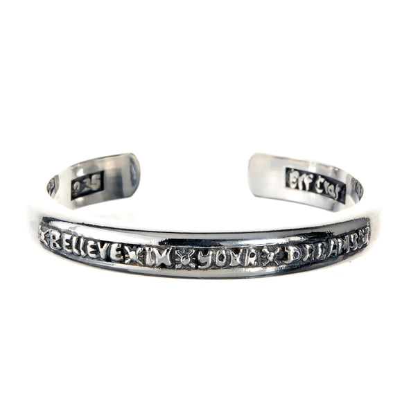 Silver Bangle BELIEVE IN YOUR DREAMS