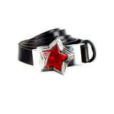 Silver Leather Bracelet Wrap ELFIN STAR with10mm Leatherband