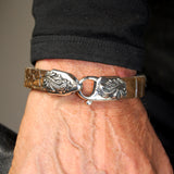 Silver Leather Bracelet MAGIC PLANT on Lobster Claw 13