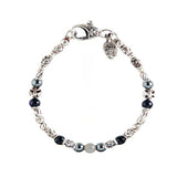 Silver Bracelet TUBES Elfin Lilies, Dragon Scales Spirals Stars with SPROUTS STAR and Beads
