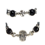 Bracelet Beads SKULL and  MALTESER CROSS Balls and Beads