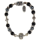 "Bracelet Beads ""Skull"" ""Malteser Cross"" Ball and Bead"