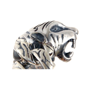 Silver Bracelet TIGER HEAD L and Tiger Links