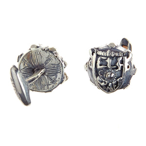 Silver Cufflinks SHIELD Facetted Body METEORITE