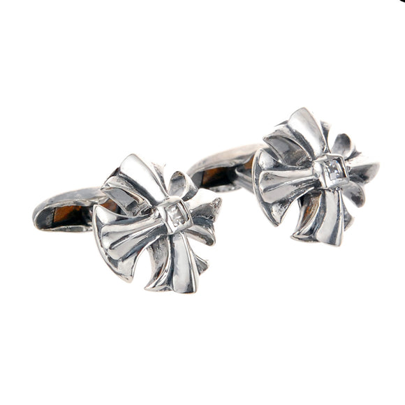 Silver Cufflinks MALTESER CROSS Open
