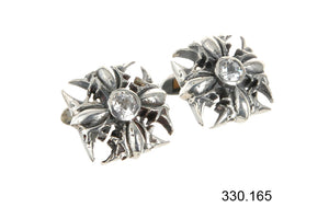 Silver Cufflinks  Malteser Cross Garden at Night