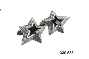 Silver Cufflinks SHOOTING STAR with Stone