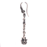 Silver Earhanger SPROUTS CROSS and CROWN