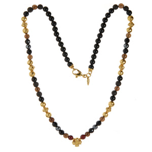 "Neckchain beads facetted ""Plain Cross"" cross balls"