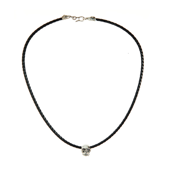 Leather Neckband with Silver