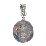 Silver Pendant SHIELD on BELIEVE Coin L