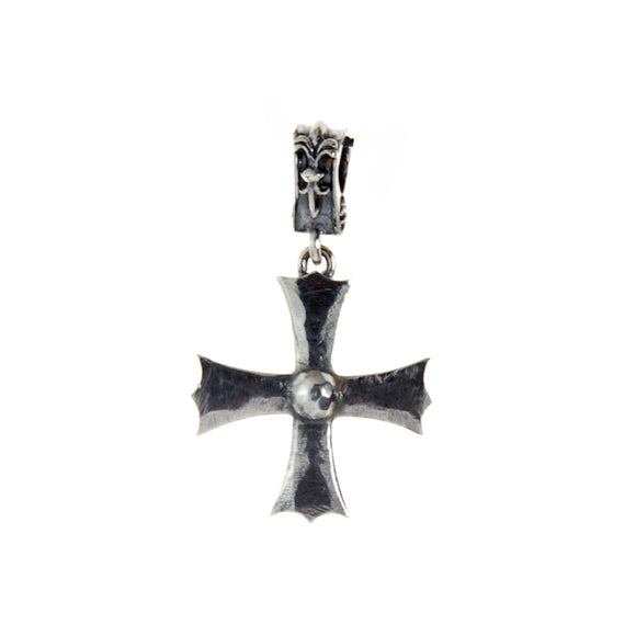 Silver Pendant Facetted Plain IRON CROSS M