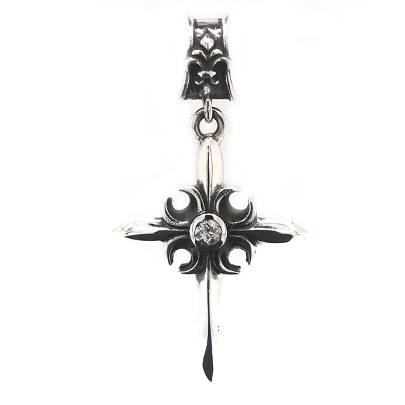 Silver Pendant CRESCENT CROSS
