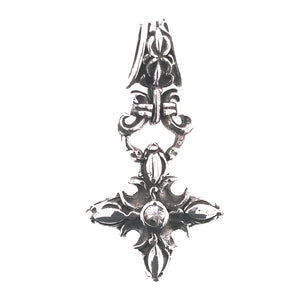 Silver Pendant CRESCENT STAR Garden at Night