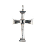 Silver Pendant CROSS Beams with Caree Stone