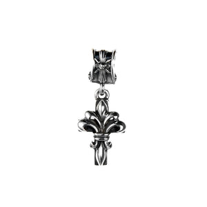 "Silver Pendant ""Lily on Cross"" S"