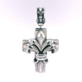 Silver Pendant LILY ON CROSS M