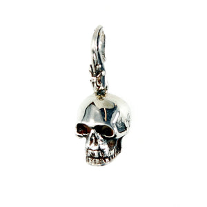 Silver Pendant SKULL S  with Hook