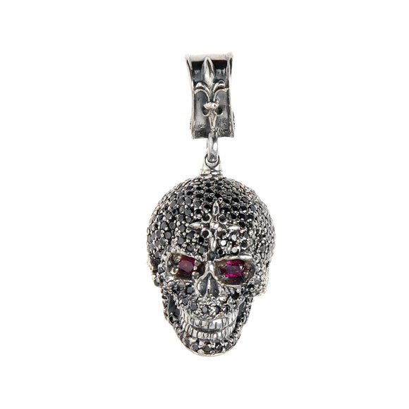 Silver Pendant SKULL XL  Pave´ 40