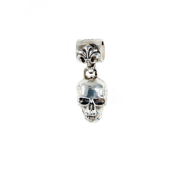 Silver Pendant  SKULL XS with Lily Loop