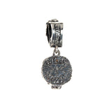 Silver Pendant LION HEAD L with Diamond Eyes