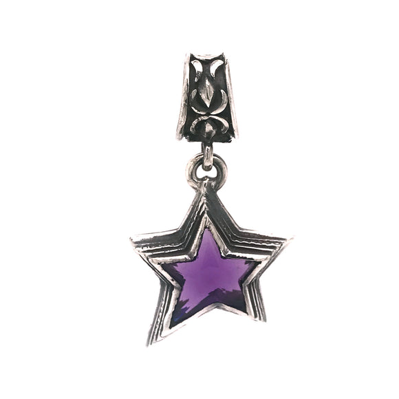 Silver Pendant SHOOTING STAR S with Morning Star Loop