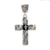 Silver Pendant CROCODILE Cross