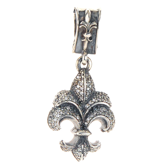 Silver Pendant ELFIN LILY Pave´