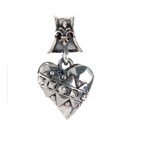 Silver Medaillon HEART and Sparks