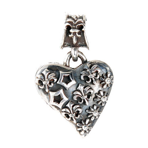Silver Medaillon HEART WITH Signs