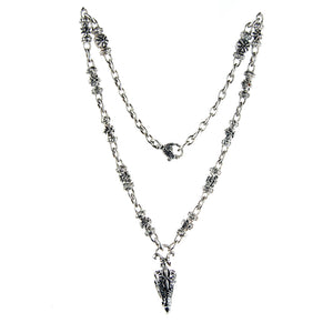 Silver Fetish Chain with EAGLE SKULL