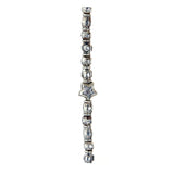 Silver Neckchain Mini TUBES and BALLS Rough and Mini STARS
