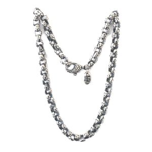 Silver Neckchain PEA s Chain S with Dragon Scales