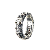 Silver Ring GARDEN AT NIGHT and SKULL