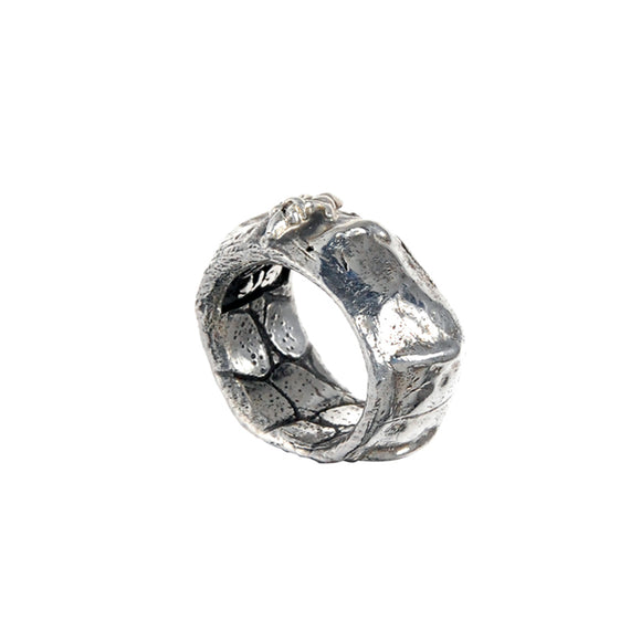 Silver Ring Crocodile