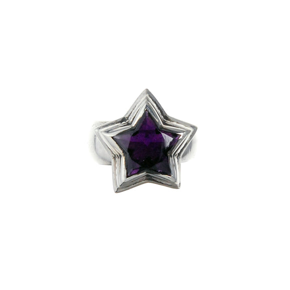 Silver Ring with ELFIN STAR