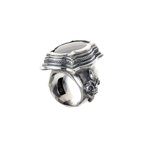 Silver Ring BAROQUE Long and Lily Band