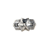 Silver Ring METEORITE STAR and BELIEVE IN YOUR DREAMS