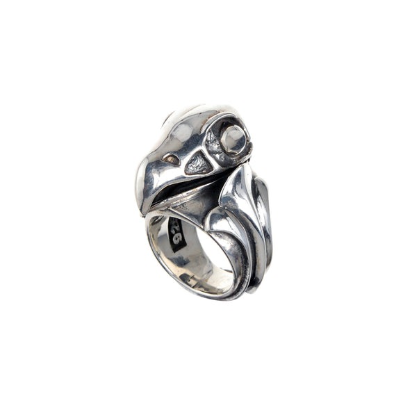 Silver Ring Eagleskull M with Sproutsband