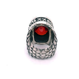Silver Ring Oval BELIEVE IN YOUR DREAMS on Dragon Scales Band