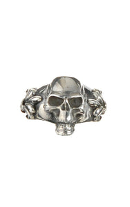 Silver Ring SKULL on Lily Band