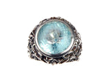 Silver Ring Round GARDEN AT NIGHT Stoneholder
