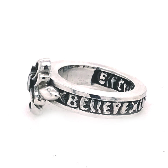 Silver Ring LILY and BELIEVE IN YOUR DREAMS