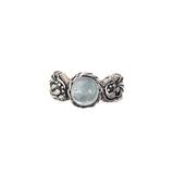 "Silver Ring ""Magic Plant"" Round Stone"