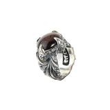 Silver Ring MAGIC PLANT Band and DRAGON Claw  Stoneholder